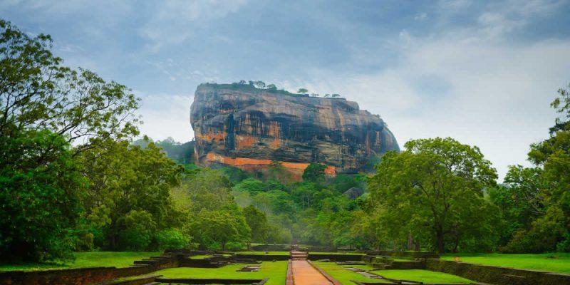 Paysage au Sri Lanka